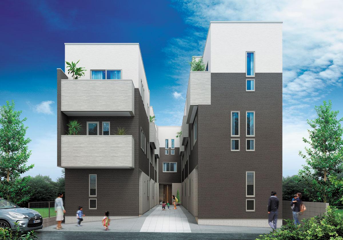「戸建住宅の良さ」×「マンションの良さ」が融合した3F建てメゾネット住宅。新発想の価値をお届けする「サンレジア巣鴨 ー全7邸ー」