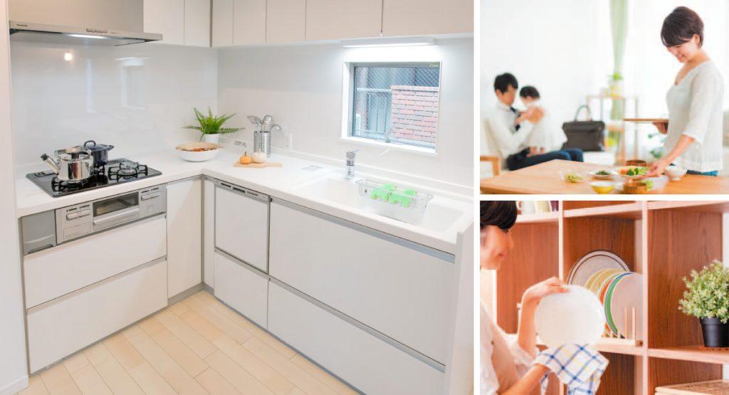 サンレジア巣鴨:開放感にあふれ、コミュニケーションも弾むリビングキッチン。